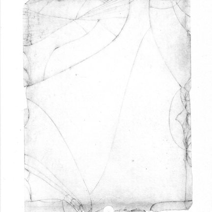 Various & Gould: Broken Screen (tablet 1), Berlin 2020, one of a kind, intaglio print on Zerkall paper