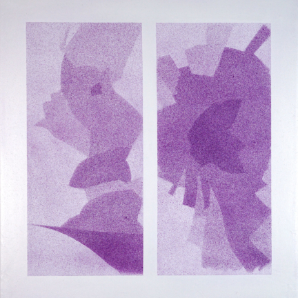 Various & Gould: Broken Windows – Bahnhofshaus Ostkreuz, Berlin 2019, aerosol on canvas, 55 x 54 cm