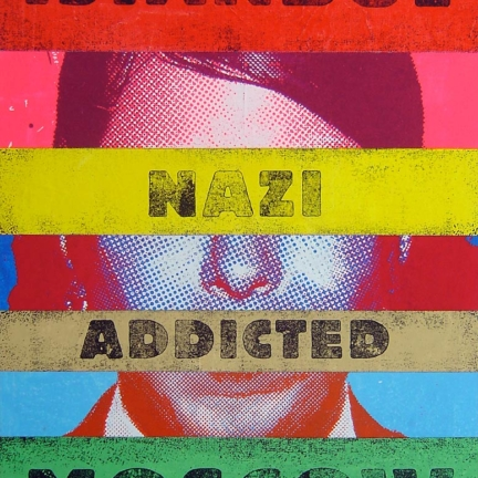Various & Gould: Identikit (Istanbul Nazi Addicted Moscow), Berlin 2008, acrylic and screen print on sewed canvas, 83 x 64 cm