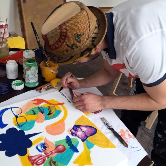Live Painting @ Sweat Shop / Schau Fenster, Berlin 2016