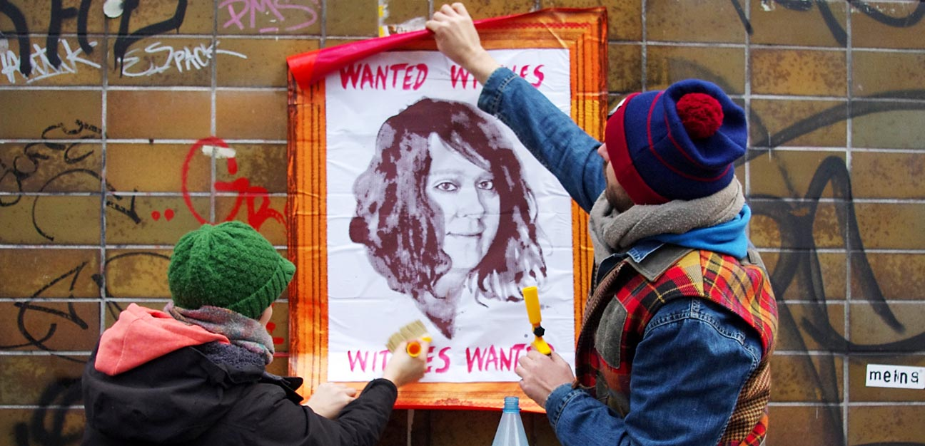 Portrait of Antony Hegarty aka Anohni, #WitchHuntCologne (Photo: Katja Glaser / locatingstreetart.com)