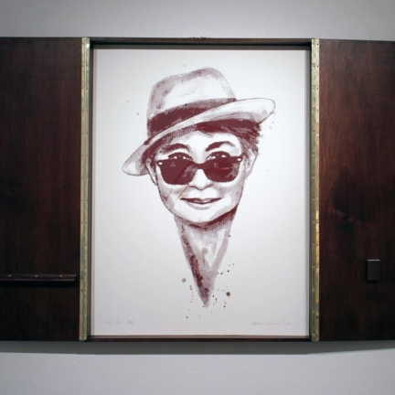 Various & Gould: Yoko Ono @ 30works Gallery, Cologne 2014, framed phosphorus screen print, 82 x 62 cm (82 x 124 cm)