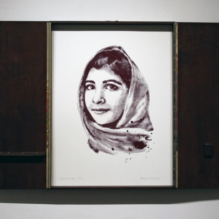 Various & Gould: Malala Yousafzai @ 30works Gallery, Cologne 2014, framed phosphorus screen print, 82 x 62 cm (82 x 124 cm)