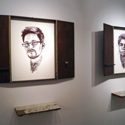 Various & Gould: Edward Snowden, Mae Azango @ 30works Gallery, Cologne 2014