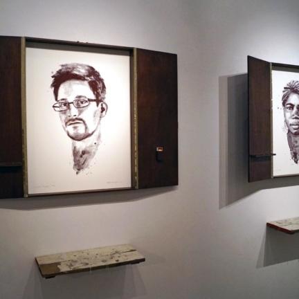 Various & Gould: Edward Snowden, Mae Azango @ 30works Galerie, Köln 2014