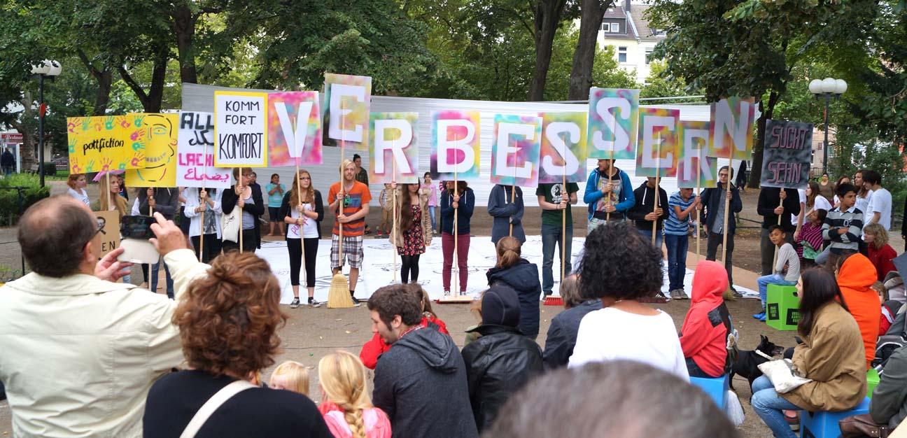 Protestplakat-Workshop, Pottfiction / anschlaege.de, Dortmund 2014