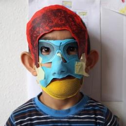 Workshop mit geflüchteten Kindern @ LOA Kiez-Kultur-Sommer, Notunterkunft Ruschestraße, Berlin 2016