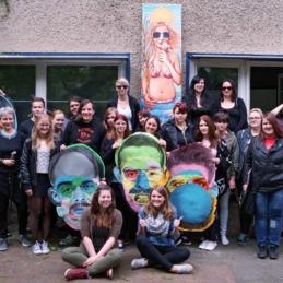 Atelierbesuch, FSJ (Freiwilliges Soziales Jahr), Berlin 2015