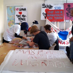Protest workshop, Max-Planck-Gymnasium, Berlin 2014