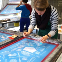 Siebdruck-Workshop, 2013