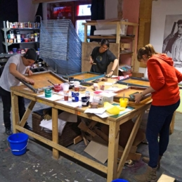 Screen print workshop: All in a Day's Work (Druck Berlin) @ Mother Drucker, Berlin 2014