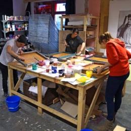 Screen print workshop: All in a Day's Work (Druck Berlin) @ Mother Drucker, Berlin 2014