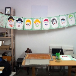 Screen print workshop, 2015