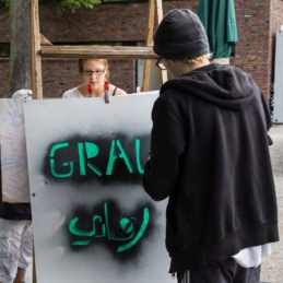 Protest poster workshop, Pottfiction / anschlaege.de, Dortmund 2014 (photo: Sascha Dominic Rutzen)