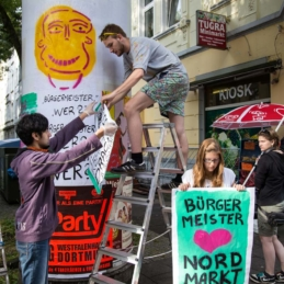 Protestplakat-Workshop, Pottfiction / anschlaege.de, Dortmund 2014 (Photo: Sascha Dominic Rutzen)