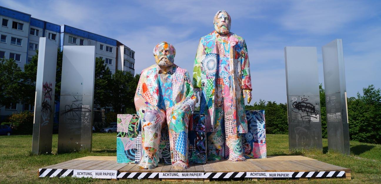 City Skins – Marx und Engels, Berlin 2017