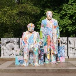 Various & Gould: City Skins – Marx und Engels, Berlin 2017