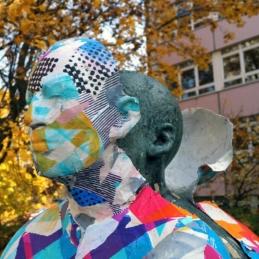 Various & Gould: City Skins – Der lesende Arbeiter, Berlin 2015
